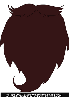 graphic royalty free download Beard clipart photo booth. Free printable big brown.