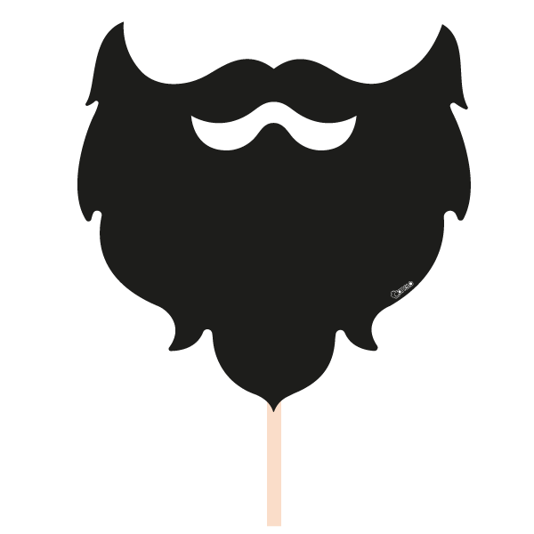 vector freeuse library Beard clipart photo booth. Party photobooth props figure.