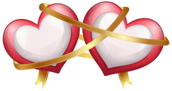 png transparent stock Two hearts with ribbon. Beard clipart picsart.
