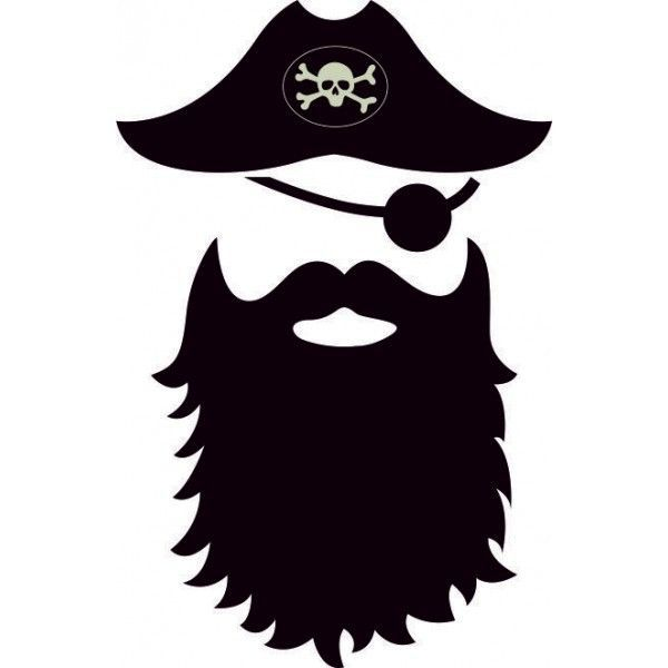 svg free stock Drawn x free clip. Beard clipart pirate