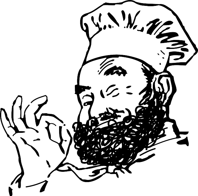 clip black and white Beard clipart pixel. Free photo smile chef
