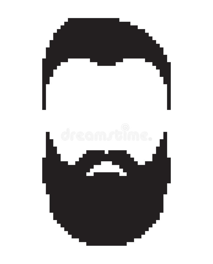 graphic free library Images gallery for free. Beard clipart pixel