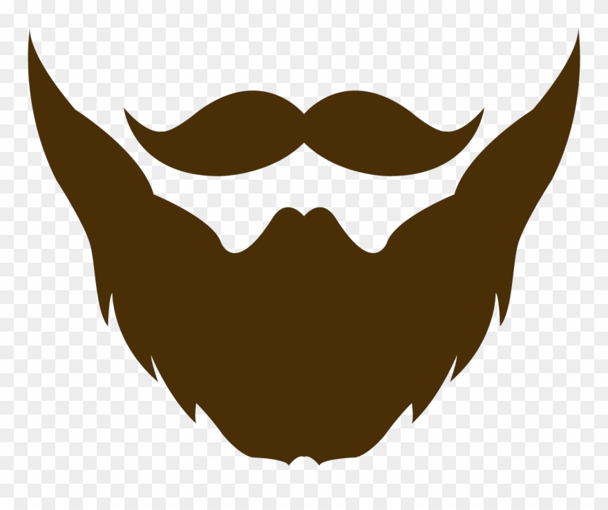 svg free Beard clipart plain. Brown moustache and logo