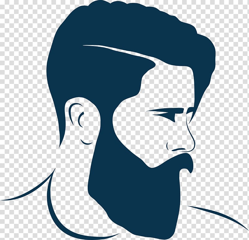 jpg library download Beard clipart pompadour haircut. Men s black hairstyle