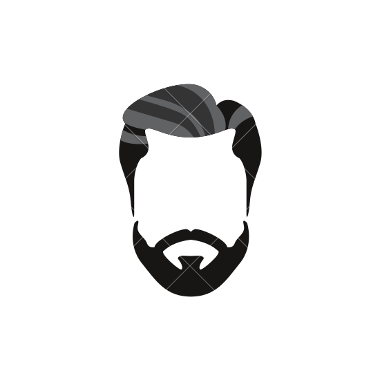 banner transparent library Beard clipart pompadour haircut. Sakal bak m men