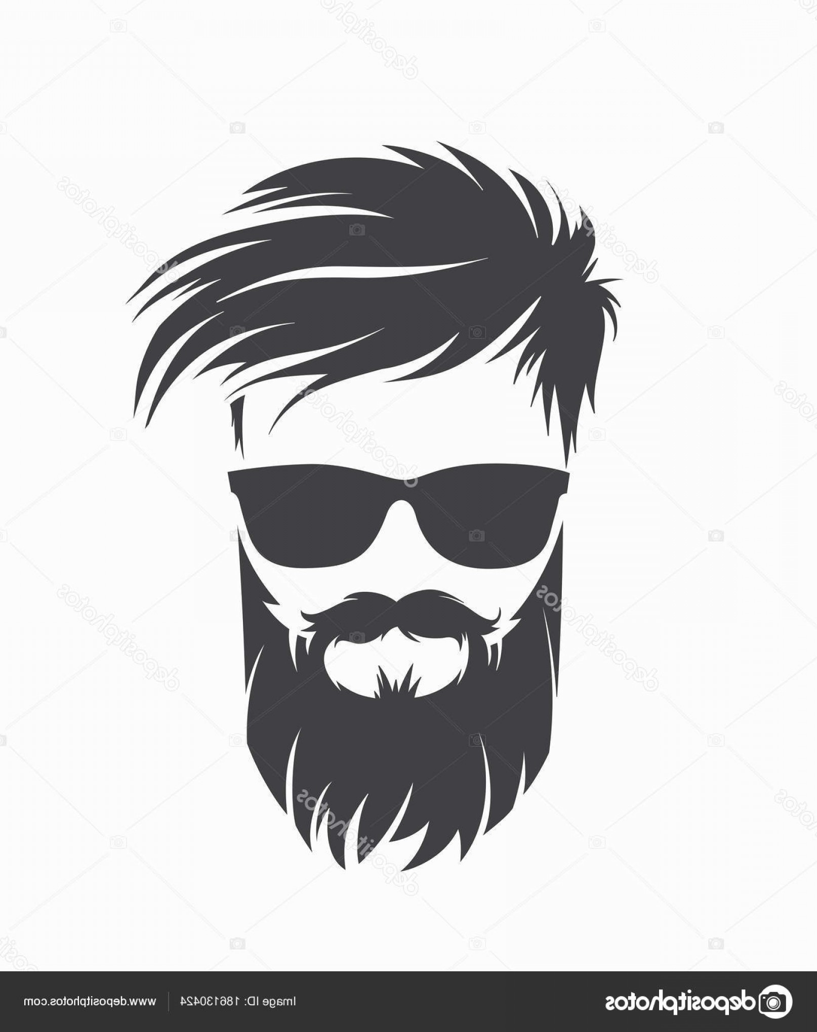 banner library library Stock illustration mens hairstyle. Beard clipart pompadour haircut