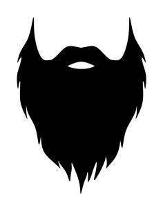 jpg freeuse library Beard clipart printable. Pin by milijana aleksi