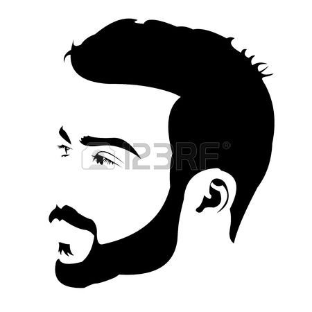 clip art transparent library Pin by haven design. Beard clipart profile
