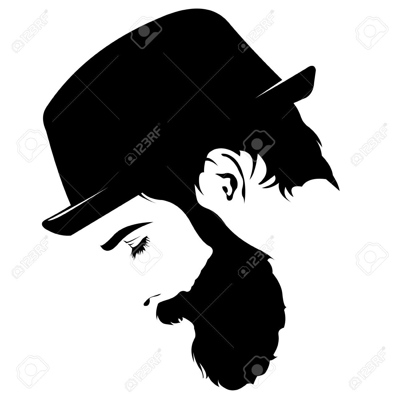 png library stock Stock vector in art. Beard clipart profile