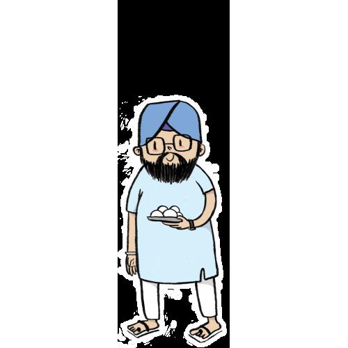 svg freeuse Babba . Beard clipart punjabi