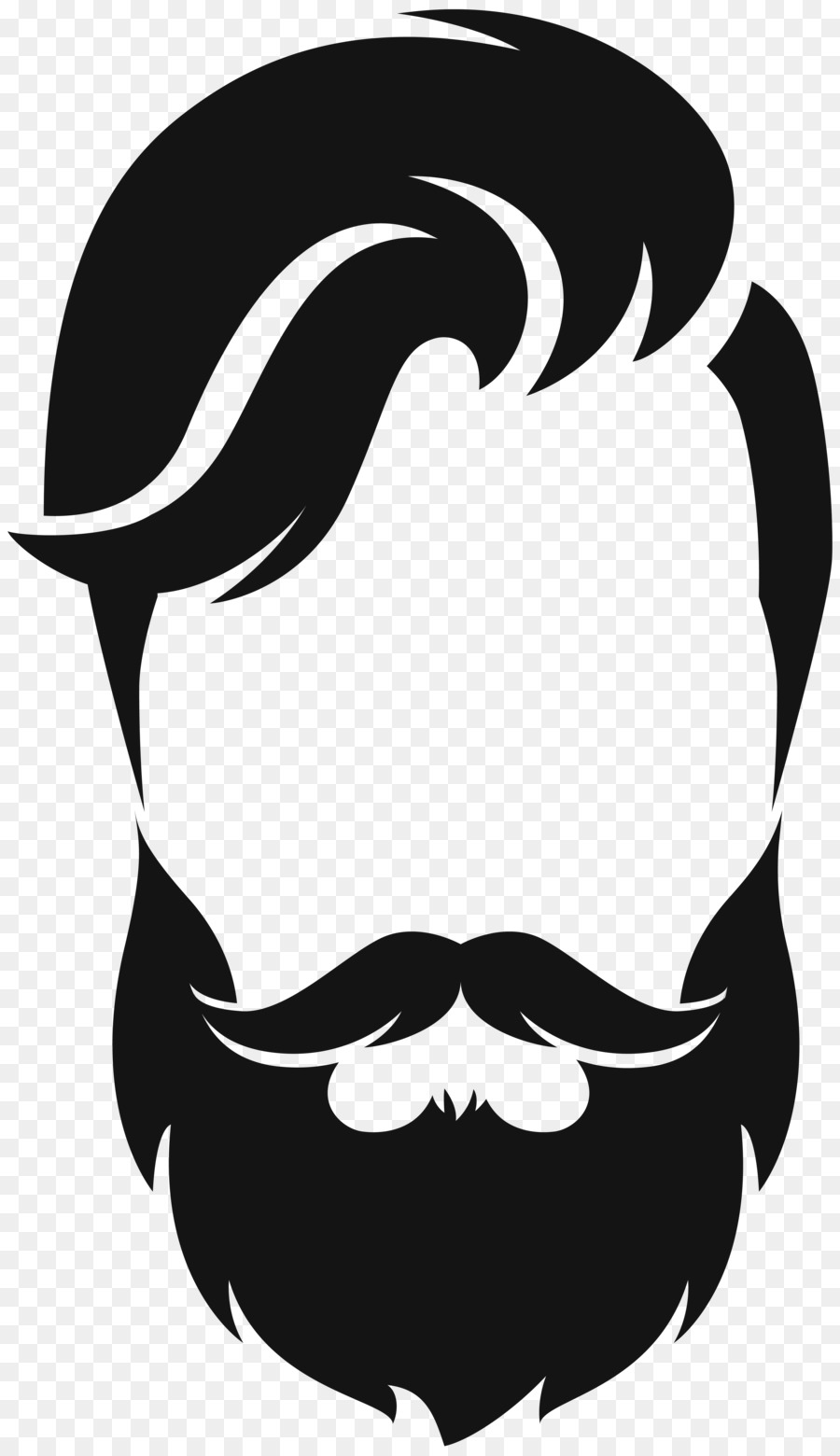 vector transparent library Beard clipart real. Transparent free for download.
