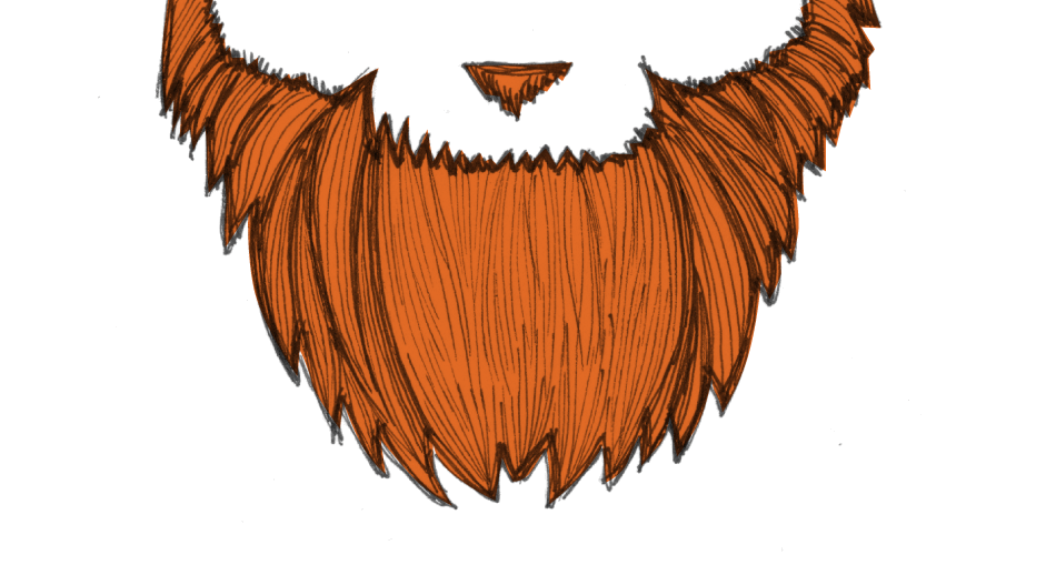 clip free library Pencil and in color. Beard clipart red