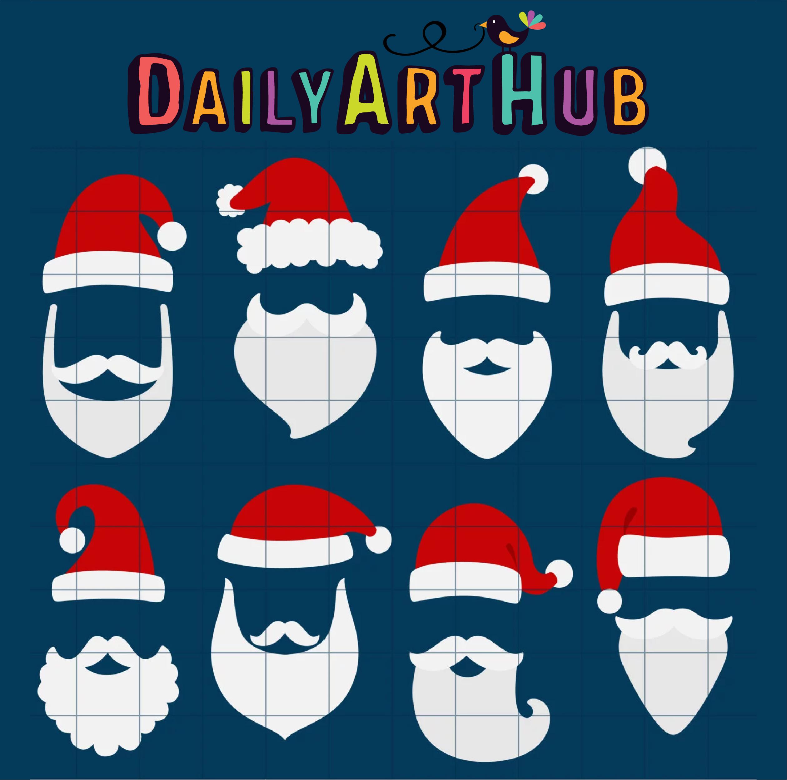 vector free download Beard clipart santa hat. Beards and clip art