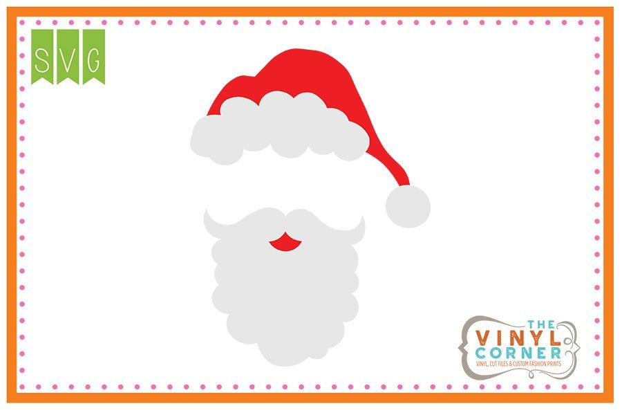 picture royalty free library And blank svg design. Beard clipart santa hat