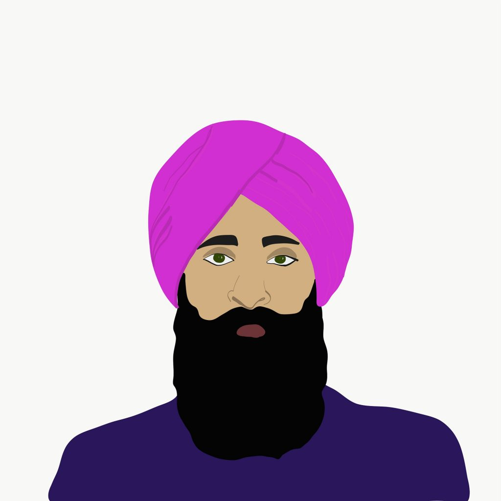 png library download Beard clipart sardar. Hair transplant for sikhs