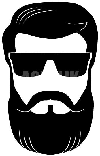 jpg transparent library Man with vector acrylik. Beard clipart shades.