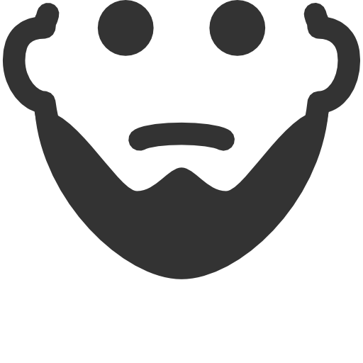 black and white library Beard clipart short. Free icons download page