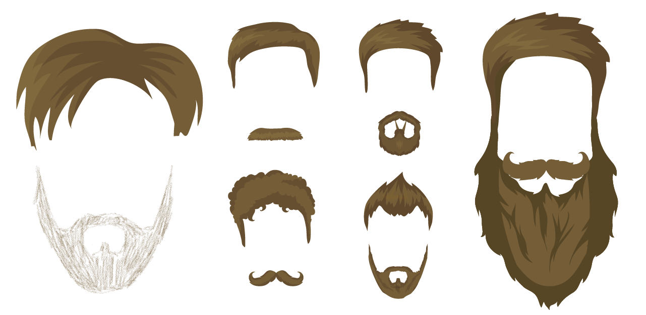 vector royalty free stock Beard clipart short. Moustache