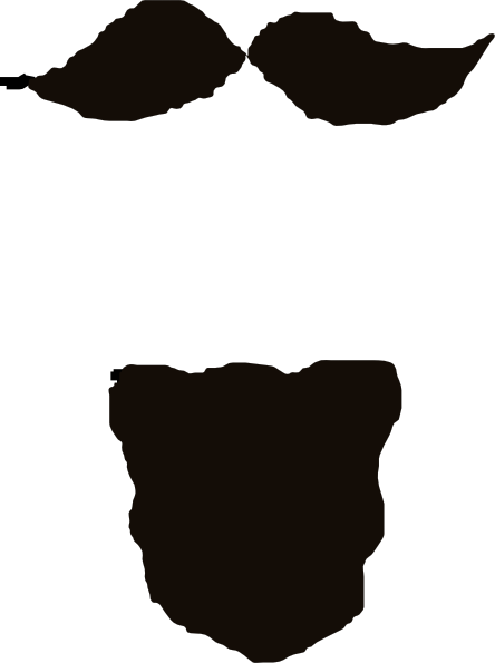 jpg free stock Beard clipart side. Goatee panda free images