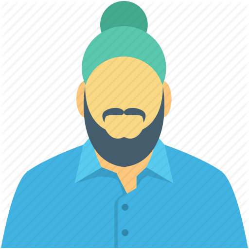 vector download Transparent png free download. Beard clipart sikh