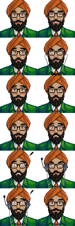 banner black and white library Beard clipart sikh. Wip diverse stardewvalley hiatus