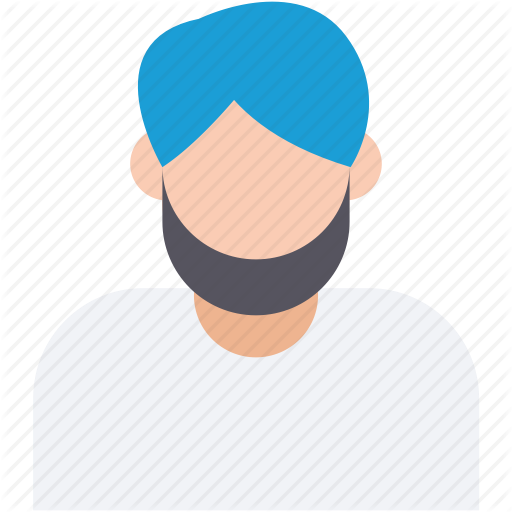 vector royalty free Avatars by prosymbols indian. Beard clipart sikh