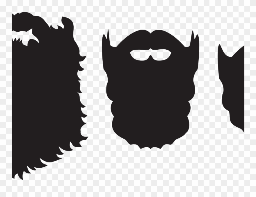 svg royalty free stock Png download . Beard clipart silhouette