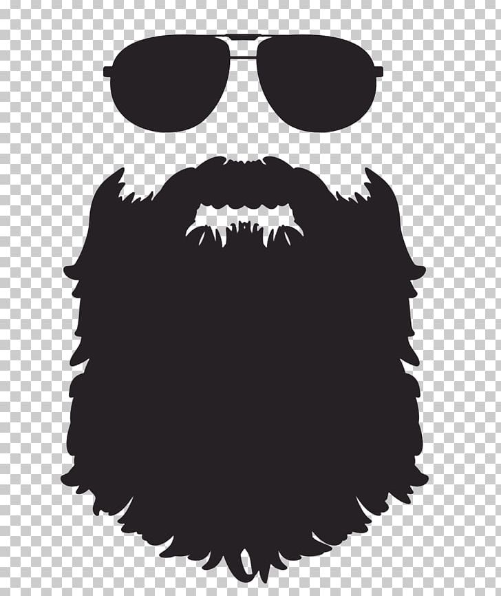 image black and white download Beard clipart silhouette. Png art black and