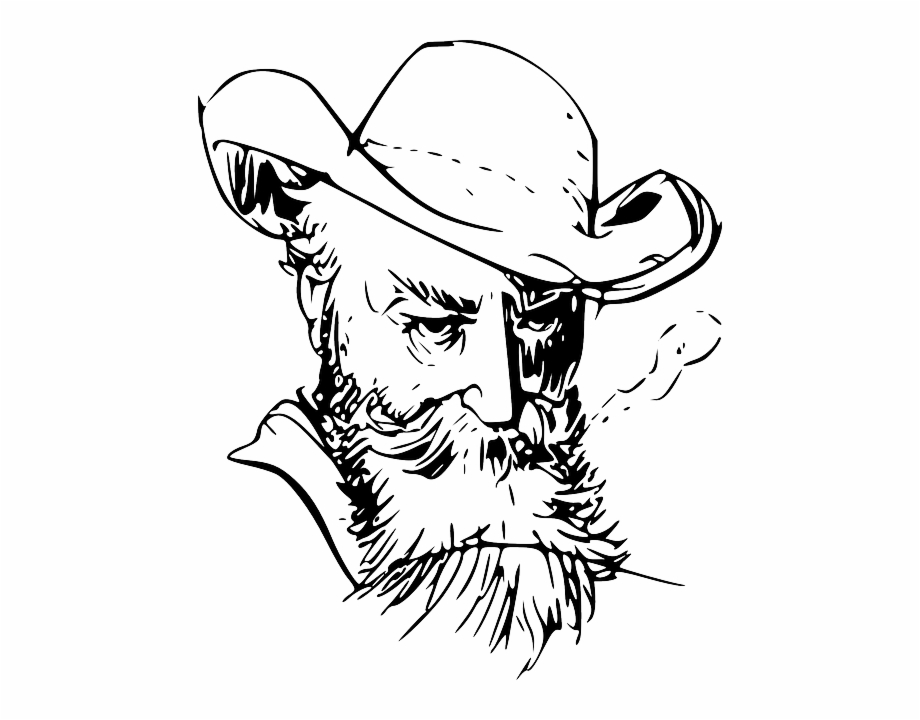jpg free library Beard clipart sketch. Graphic freeuse old man