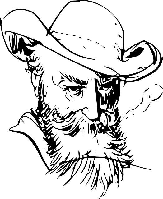 graphic freeuse Beard clipart sketch. Man with drawing at