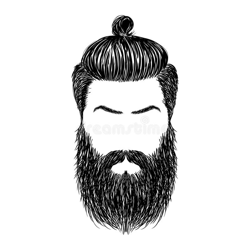vector royalty free Collection of free begirded. Beard clipart sketch
