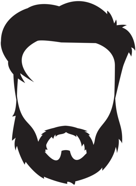 image black and white Beard clipart small. Png images free download