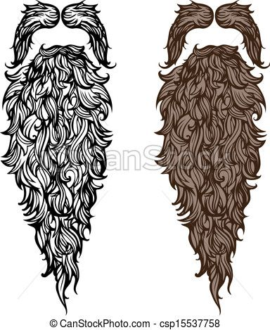 image black and white download Pin on laser cutting. Beard clipart stock