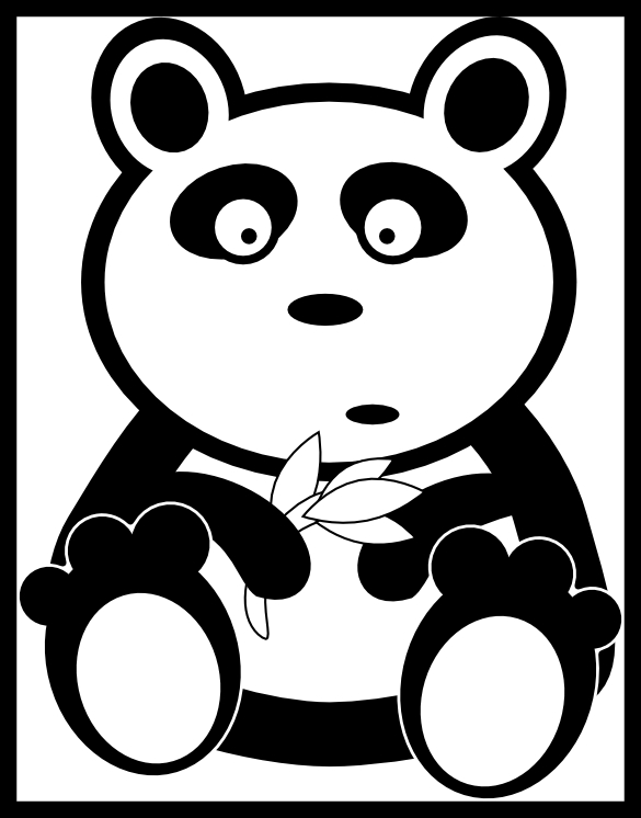 graphic stock Unbelievable collection of panda. Beard clipart style