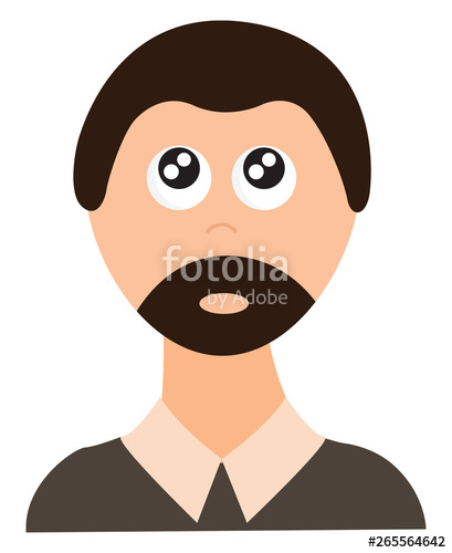 vector transparent library Of a man with. Beard clipart stylish