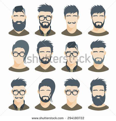 picture transparent stock Beard clipart stylish. Stock vectors vector clip