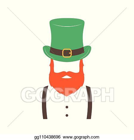 svg freeuse download Beard clipart stylish. Eps illustration irishman with
