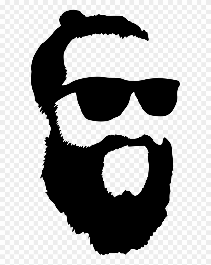 jpg royalty free library Beard clipart sunglass. Hipster with sunglasses silhouette