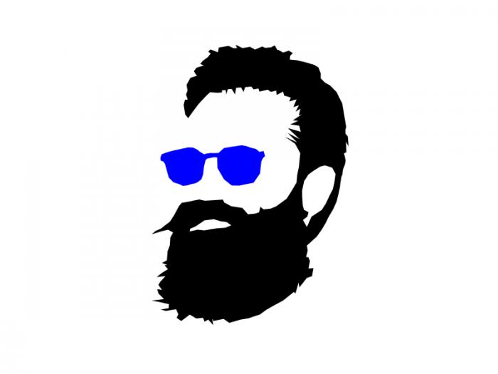 image black and white download Sunglasses cartoon illustration . Beard clipart sunglass