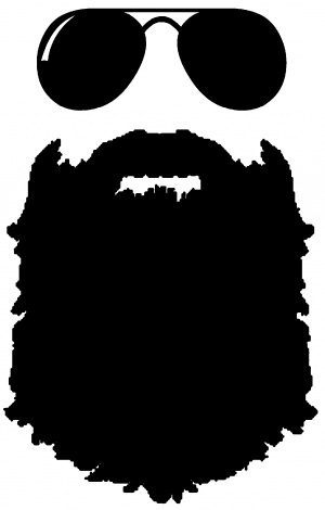 vector free library Beard clipart sunglass. Transparent free for