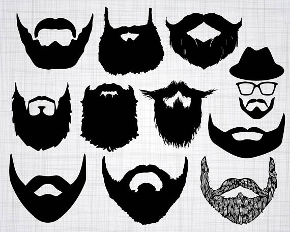 picture Beard clipart svg. Transparent free for download