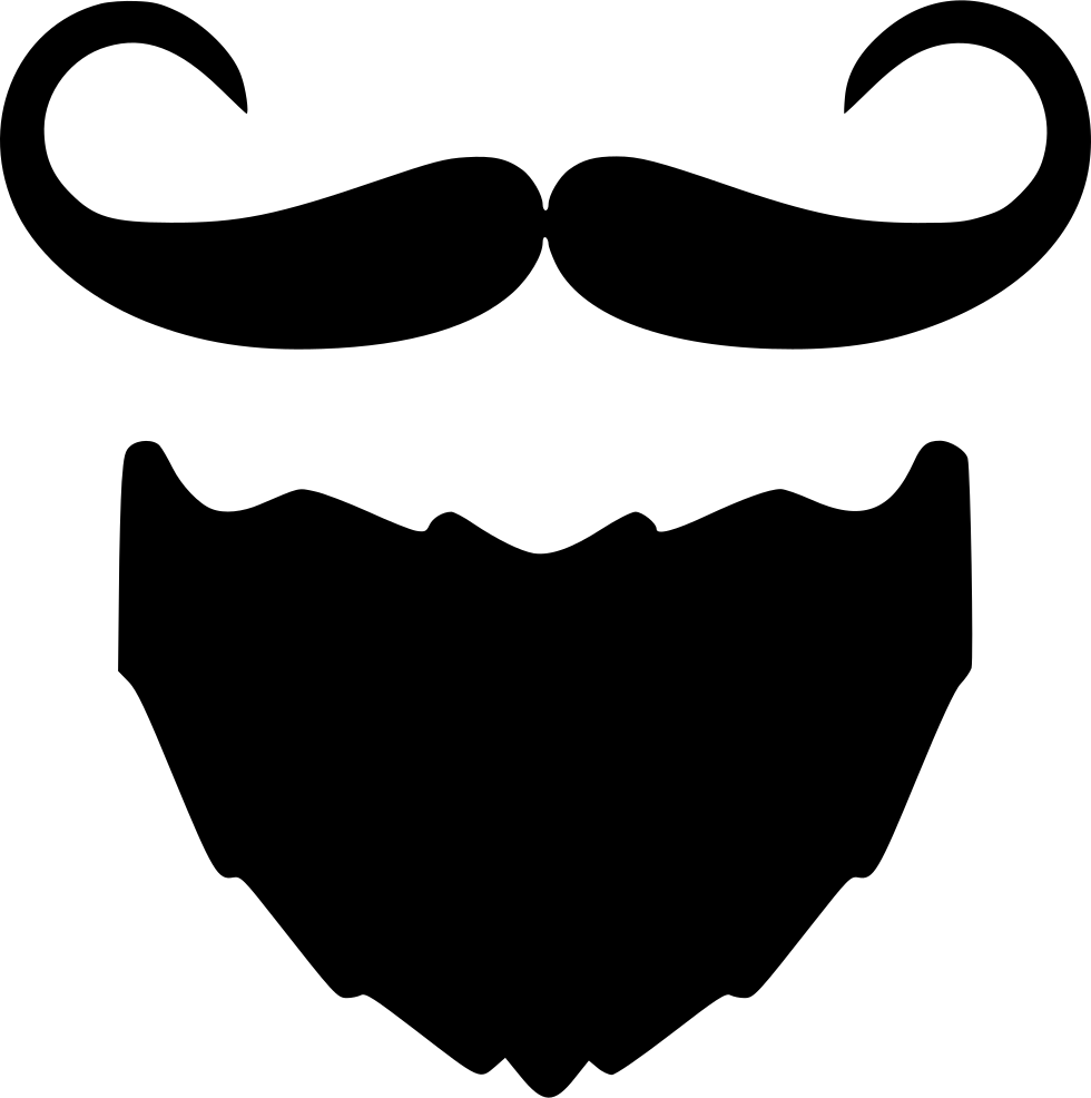 svg royalty free library Beard And Moustache I Svg Png Icon Free Download
