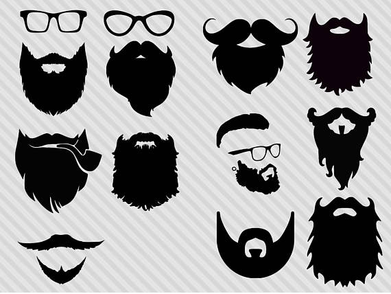 clip library library  clipartlook. Beard clipart svg