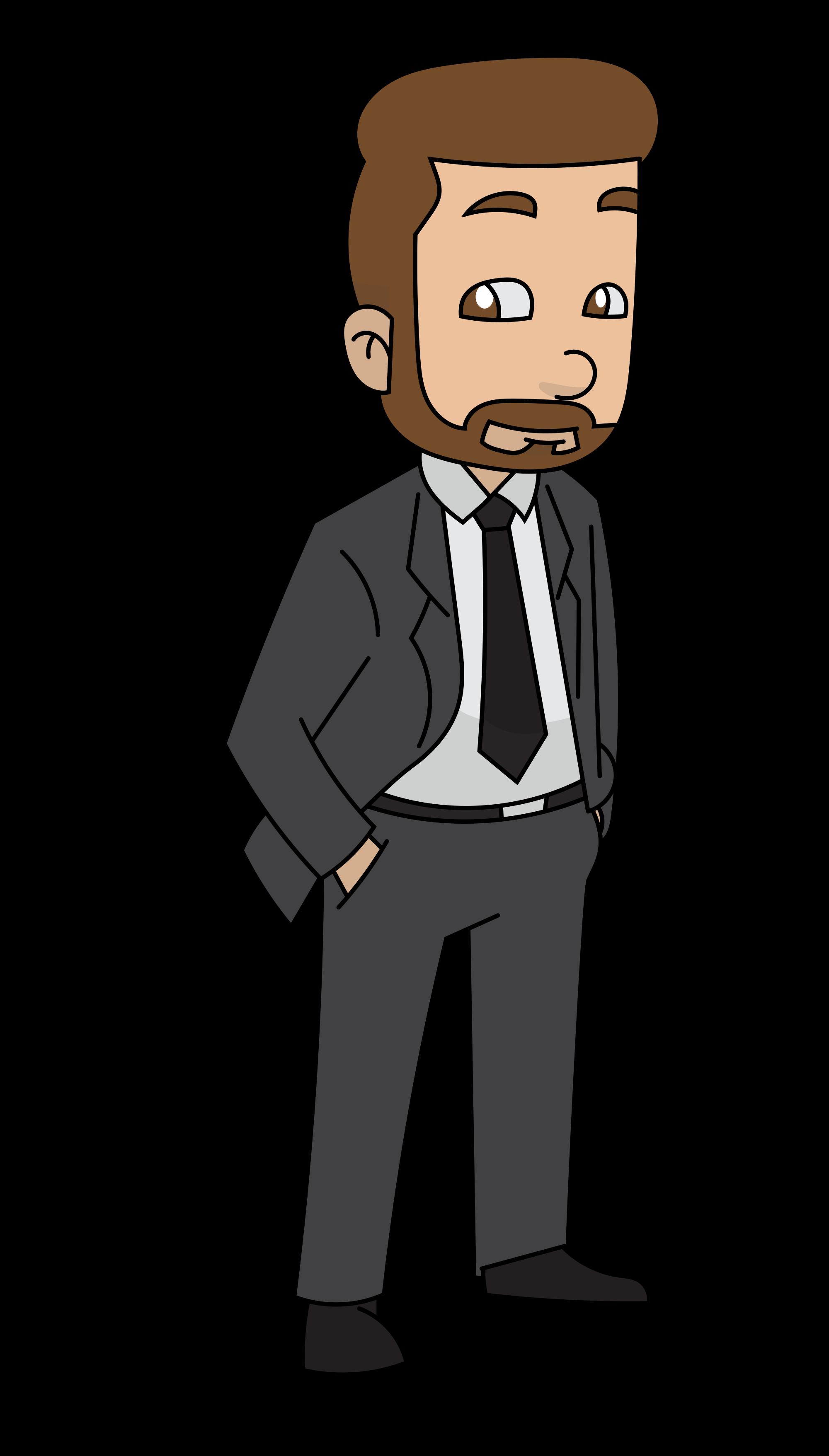 clipart royalty free Beard clipart svg. File a cartoon businessman