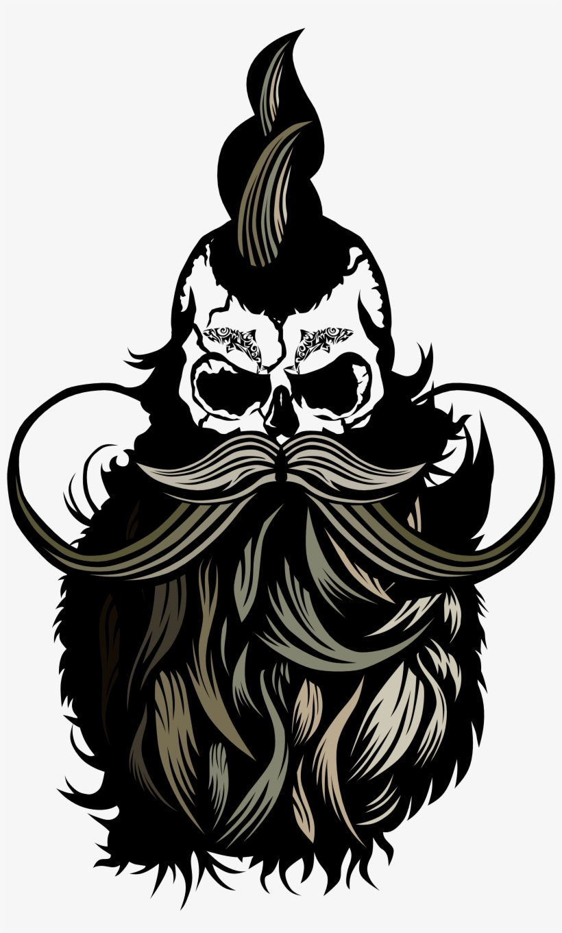 banner free download Beard clipart texture. Crane barbe tatoo png.