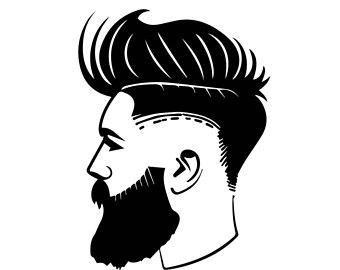 clip download Beard clipart trimmed. Barber trim hair transparent