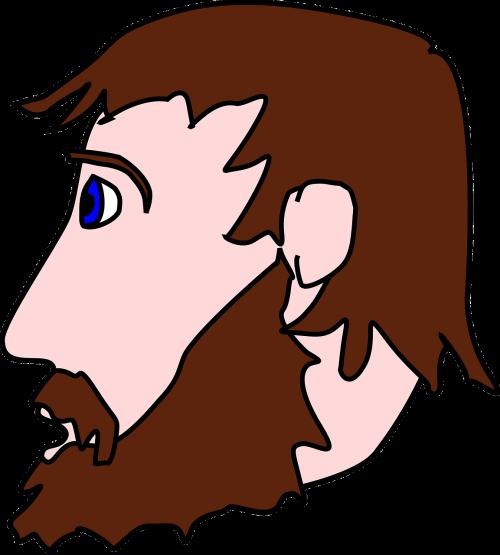 vector free Curly face goatee hair. Beard clipart vector.