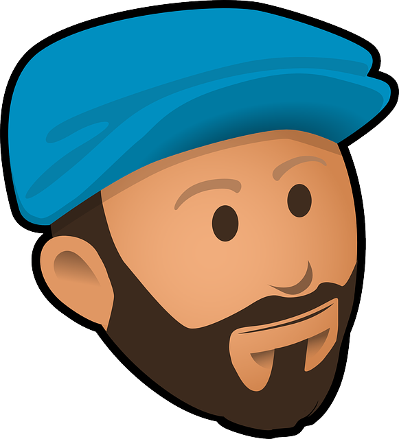 picture free library Beard clipart vector. Bearded man pencil and.
