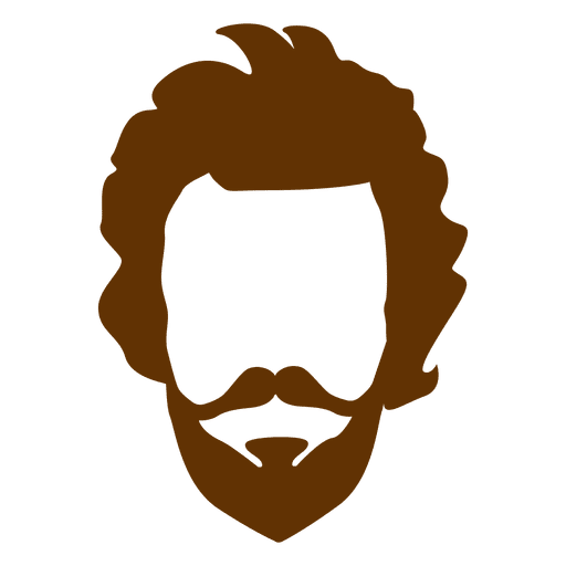freeuse Hipster man retro transparent. Beard clipart vector