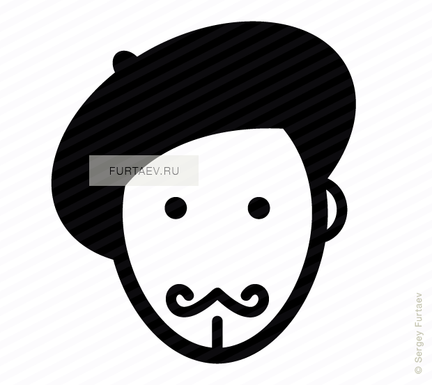 clipart freeuse stock Painter icon of male. Beard clipart vector